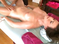 Masseur uses adult toys while massaging