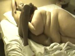 جنس: بدينات, سمراوات, على السرير, زنوج