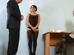 جنس: سيطرة, في المكتب, السمراوات, عرى