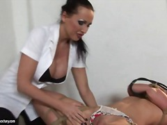 Mandy bright doxy finger fuck a tied playgirl on table