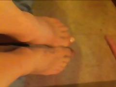 Porno: Fetish Me Këmbë, Derdhja E Spermës, Të Ngushta, Rroba Najloni