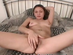 Chick spreading her pussy wide to make part4