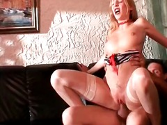 Horny brunette milf gets pussy part3