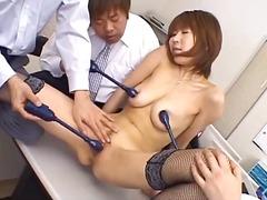 جنس: في المكتب, آسيوى, بعبصة, هزاز