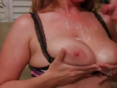 Hot slut in glasses shows up to screw him