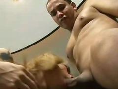 Porr: Shemale, Blond, Röv, Grabb