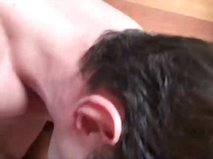 Hetero male guy gets his very first gay blowjob