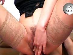 Porno: Grupinis Prievartavimas, Oralinis Seksas, Grupinis, Brunetės