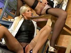 Porno: Oralinis Seksas, Blondinės, Kojinės, Auksinis Lietutis