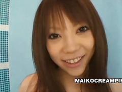 Bold: Brown Ang Buhok, Hapon, Oral Sex, Banyo