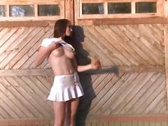 Porno: Gözəl Qız, Çöldə, Masturbasya