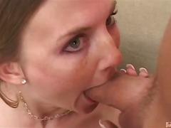 Porr: Långt Ner I Halsen, Naturliga Bröst, 2 Män 1 Kvinna, Blond