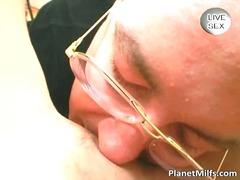 Porno: Sexy Moeder, Dildo, Blond, Likken