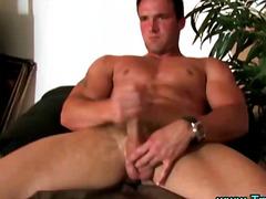 Porno: Solo, Masturbācija, Vīrieši Onanē, Muskuļotie Vīrieši