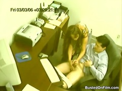 جنس: تستمنى زبه بيدها, استراق النظر, في المكتب