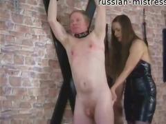 Porno: Bağlı, Dəri Paltar, Qadın Kişini