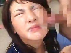 Porno: Yapon, Sifətə Tökmək, Yapon, Kəfləmə