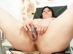 Big tits plump mature zora cunt inspection