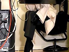 Pornići: Kancelarija, Čipkaste Gaćice, Skrivena Kamera, Masturbacija