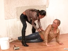 Leave it to two absolutely beautiful babes to turn an afternoon of innocent housework into some sensual wet and messy fun! nessa devil and rebecca were clearly not cut...