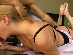 Grace sucks dick and gets fucked relentlessly