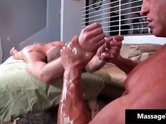 Porno: Massatge, Dos Homes Musculosos, Sexe Suau, Gay