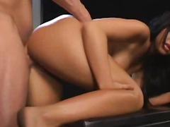 Porr: Stor Röv, Dubbelpenetration, Naturliga Bröst, Bröstknull