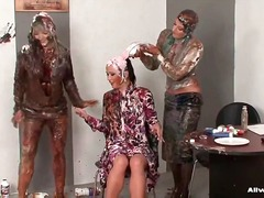 Beauty niki sweet struts herself into a messy scene and gets her time in the allwam chair of total mess destruction!! we're talkin' all kinds of super sloppy nastiness...