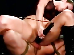 Dominatrix gets to ride his slaves cock