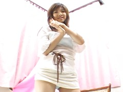 Cute japanese girl fingering herself