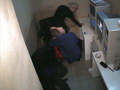 جنس: كاميرا مخفية, وضعية الكلب, في المكتب, أحذية طويلة
