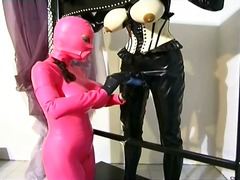 Awesome domina making up around her serf