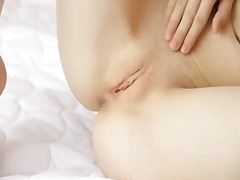 Nicy young babe gloria has so dirty dreams about big cock drilling her pretty pussy