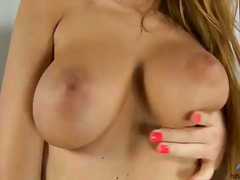 Antonyia is one slutty blonde who loves deep fingering her juicy cunt in naughty solo scenes