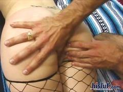 Porn: Pornozvezde, Mrežaste Nogavice, Blondinka, Hardcore