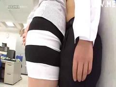 جنس: يابانيات, تستمنى زبه بيدها, في المكتب, زبار