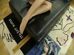 Young and skinny blonde candice a enjoys having horny male rocco siffredi in nasty hardcore