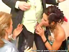 Bride gets gangbanged and pissed on