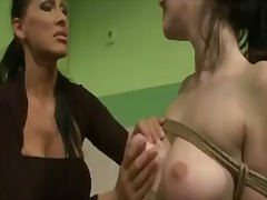 Sadistic mistress mandy bright does what she knows best to erase that smirk off of gina lorenzza's face
