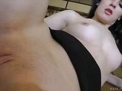 Pale skinned brunette chick carol vega having hot sex with her biggest dicked lover nacho vidal