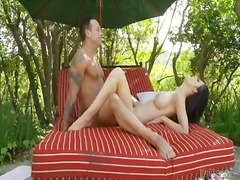 Kendall karson is having a wonderful fuck outdoors with her man