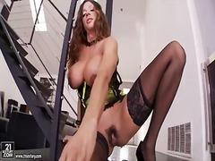 Porno: Velký Prsa, Velký Prsa, Sólo, Masturbace