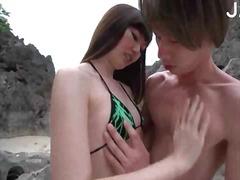 جنس: خارج المنزل, شاطىء, آسيوى, يابانيات