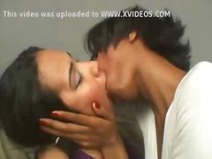 Brazilian lesbians intense french kissing