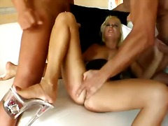 Awesome and hot threesome fuck with a passionate blonde babe named myra lyon