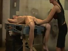 Redhead babe lucy gets tied and dominated by a wicked mistress mandy bright without mercy