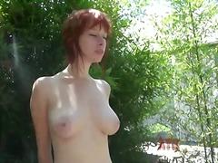 Porn: Joške, Rdečelaska, Naravne Prsi, Poziranje