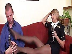 جنس: حب الأرجل, زوجان, جوارب طويلة, نكاح اليد