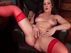 red lipstick stockings