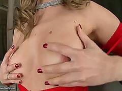 Porno: Masturbasya, Sarışın, Gözəl Qız, Alt Paltarı